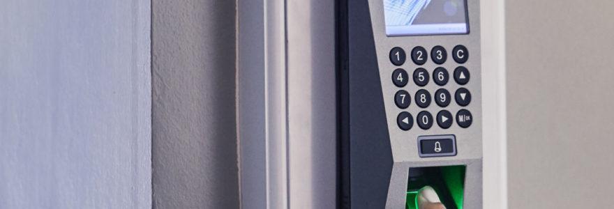 contrôle d'accès par empreinte biométrique